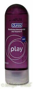 Durex Play 2 in 1 Erotik Massage Gleitgel / Gel - 200 ml