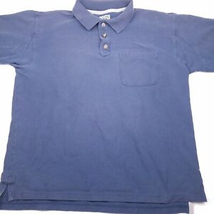 Duluth-Trading-Company-Men-039-s-short-sleeve-polo-shirt-navy-blue-size-medium-X15