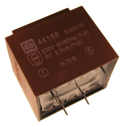 myrra MY44158 Trafo 230V Printtrafo 2,3VA 9V Netztrafo Transformator 107601