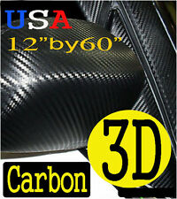 "12"" x 60"" CARBON FIBER 3D Twill-Weave Vinyl Film Sheet Wrap lexus1"