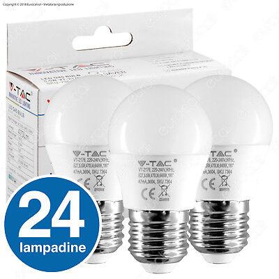 24 LAMPADINE LED V-TAC E27 Mini Globo G45 Bulbo E14 Candela Sfera Oliva P45 Vtac