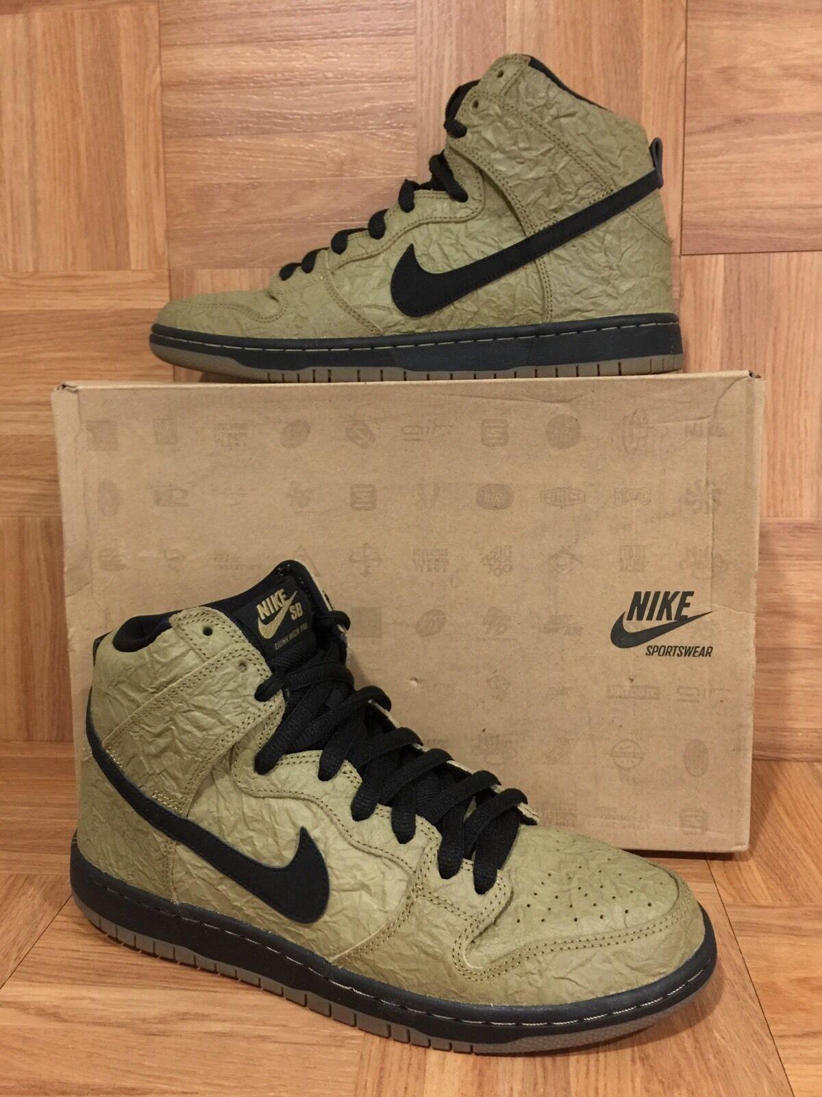 RARE� Nike Zoom SB Dunk High Premium Filbert Brown Paper Bag Gum S 9 313171-202