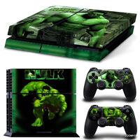 Ps4 Playstation 4 Console Skin Decal Sticker Hulk Comics + 2 Controller Skins