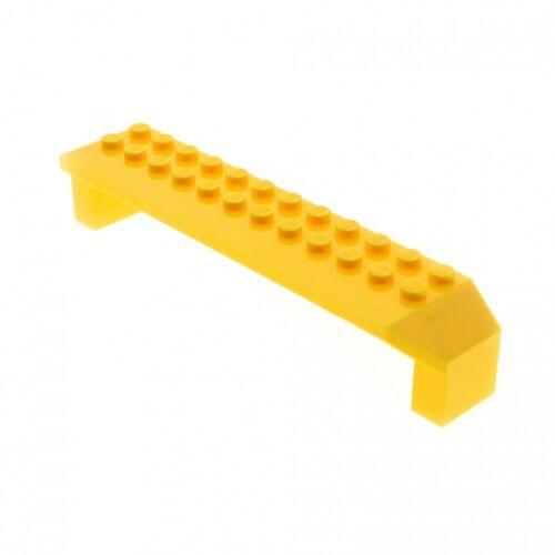 1 x Lego System Stütze gelb 2x14x2 Säule Pfeiler Träger Brücke Bogen Radkasten 7