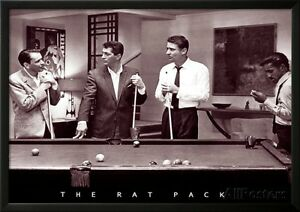 The Rat Pack Lamina Framed Poster Print 35x25 Ebay