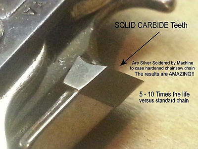 """SOLID CARBIDE Chainsaw 3//8/"""" 0.050 LP Type 91 ANY LENGTH NO Coated Junk VIDEO"""