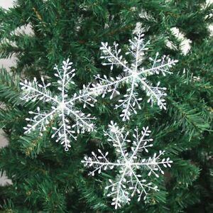 30x-Fiocchi-di-Neve-Albero-Natale-Ornamento-da-Parete-Decorazione-Casa-Fai-Te