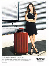PUBLICITE ADVERTISING 025 2014 RIMOWA  Valises                            140215