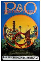 India British India England Poster 24in X36in