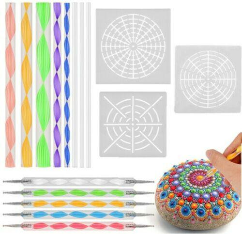 Mandala Dotting Tools For Rock Painting Kit Dot Art Rock Pen Painting Stencil
