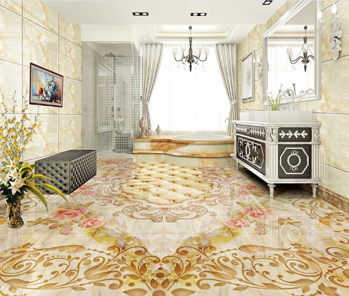 3D Fashion Floral 898 Floor WallPaper Murals Wall Print Decal AJ WALLPAPER US