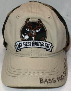 b7b3faa2574 Image is loading BASS-PRO-SHOPS-MY-FIRST-HUNTING-HAT-CAMOUFLAGE-