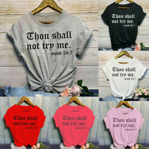 New-Women-Summer-Casual-O-Neck-Letter-Print-Short-Sleeve-T-Shirt-Top-Blouses