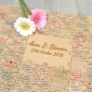 Jigsaw puzzle wedding guest book uk rail