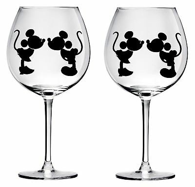 9 Mickey Mouse wine glass decals stickers wedding parties diy Bottle jars wall