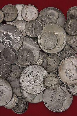 MAKE OFFER $1.00 Face Value Ben Franklin /& 1964 Kennedy 90/% Silver Junk Coins