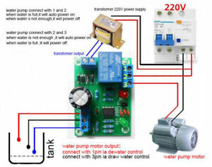 DC 12V Water Level Switch Sensor Controller Water Tank Auto Pumping