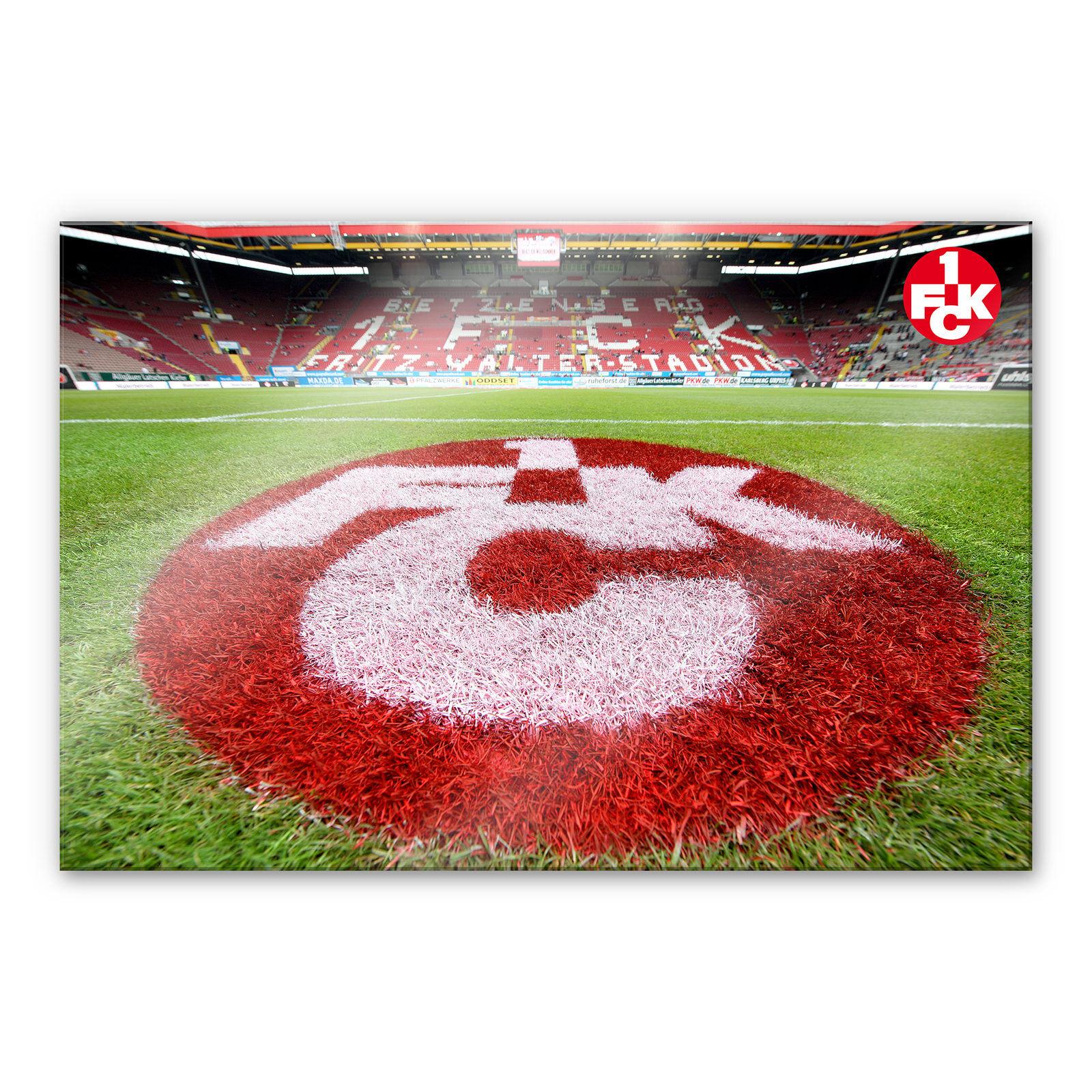 Acrylglasbild 1. FC Kaiserslautern - Rasen Logo bunt WANDBILD DEKO BILD FANSHOP