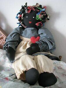 """New Primitive Country Folk Art WITCH HAZEL DOLL With Crow 18/"""""""