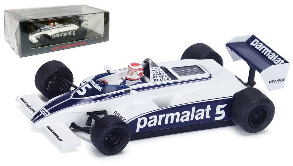 Spark S4347 Brabham BT49C silverina 1981 - Nelson Piquet World Champion 1 43