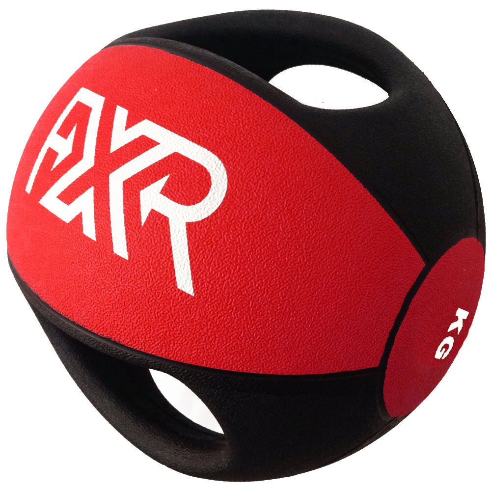 FXR SPORTS RUBBER PROFESSIONAL DOUBLE HANDLE MEDICINE BALL 3 4 5 6 7 8 9 10 12KG