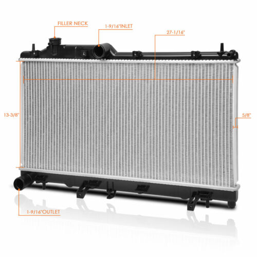 Aluminum OE Style Radiator for 08-14 Subaru Impreza//WRX 2.5L Turbo MT DPI-13091