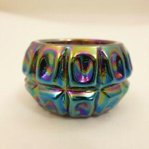 Purple-Amethyst-Carnival-Glass-Open-Salt-Dip-THUMBPRINT-Westmoreland-SUMMIT