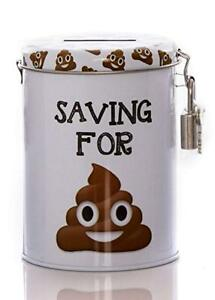 Emoji-Poo-Novelty-Savings-Tin-Money-Storage-Lockable-Piggy-bank-Fine-Jar-Gift
