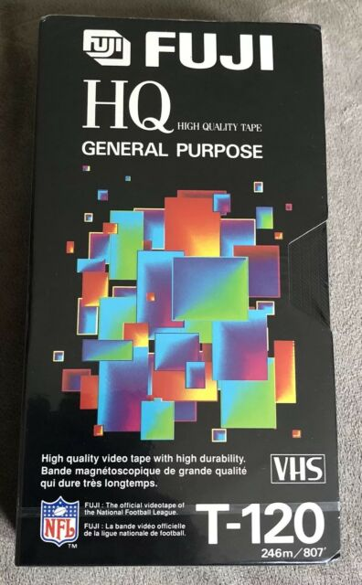 FUJI HQ T-120 HQ High Quality VHS Cassette Tape New Factory Sealed