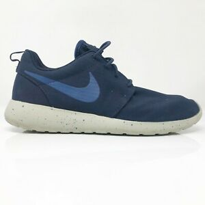 Nike-Mens-Roshe-One-SE-844687-406-Navy-Blue-Running-Shoes-Lace-Up-Low-Top-Size-8
