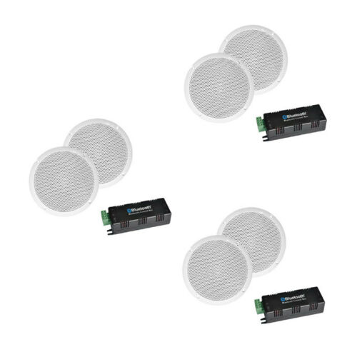 """E-Audio Bluetooth Amplifier With 5/"""" Ceiling Speakers Multi Room System"""