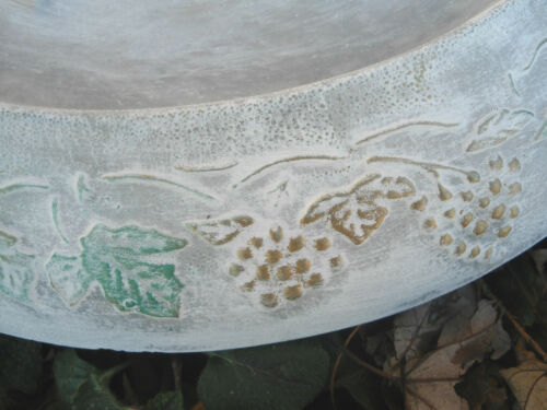 "Leaf grapevine bird BIRDBATH TOP mold 14/"" x 1.5/"" thick.. reusable"