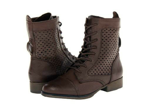Madden Girl Addyson ankle Md boot lace up brown 7.5 Md ankle NEW 3f864c