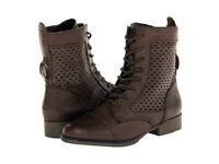 Madden Girl Addyson Ankle Boot Lace Up Brown 7.5 Md