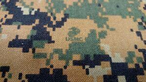 dc499f9d828ca Image is loading Marpat-Woodlands-Twill-USMC-Military-Camo-Fabric-Uniform-