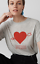 Grey With Marl Logo L Merci Size New Whistles Tag T Heart shirt nbsp;16 SwqXnZ6x