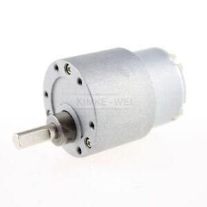 12V DC 3.5//15//60RPM High Torque Geared Gear Box Micro Electric Motor 37mm ZM6