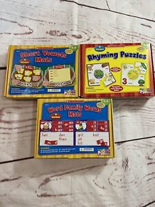 Scholastic Simple Word And Vowel Mats Turtle Learning Mats Grades K-2 School Euc