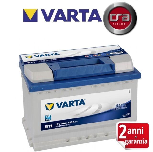 BATTERIA AUTO VARTA E11 74AH 680A DI SPUNTO POLO POSITIVO DX - 574012068