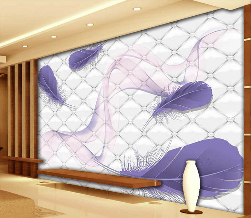 lila Ribbon 3D Full Wall Mural Photo Wallpaper Printing Home Kids Decoration