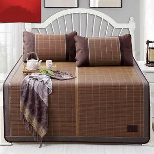 Summer Mattress Cover Bed Mat Cool Bamboo Rattan Folding Mats