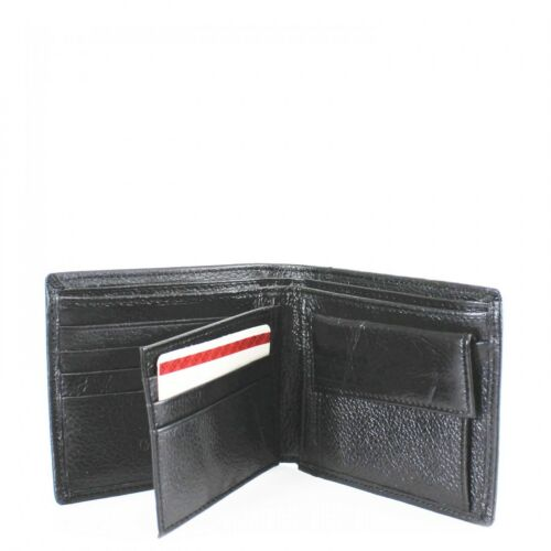 Boys 023 Genuine Leather Bifold Men/'s Boxed Wallet ID Coins Zipped Money Slots