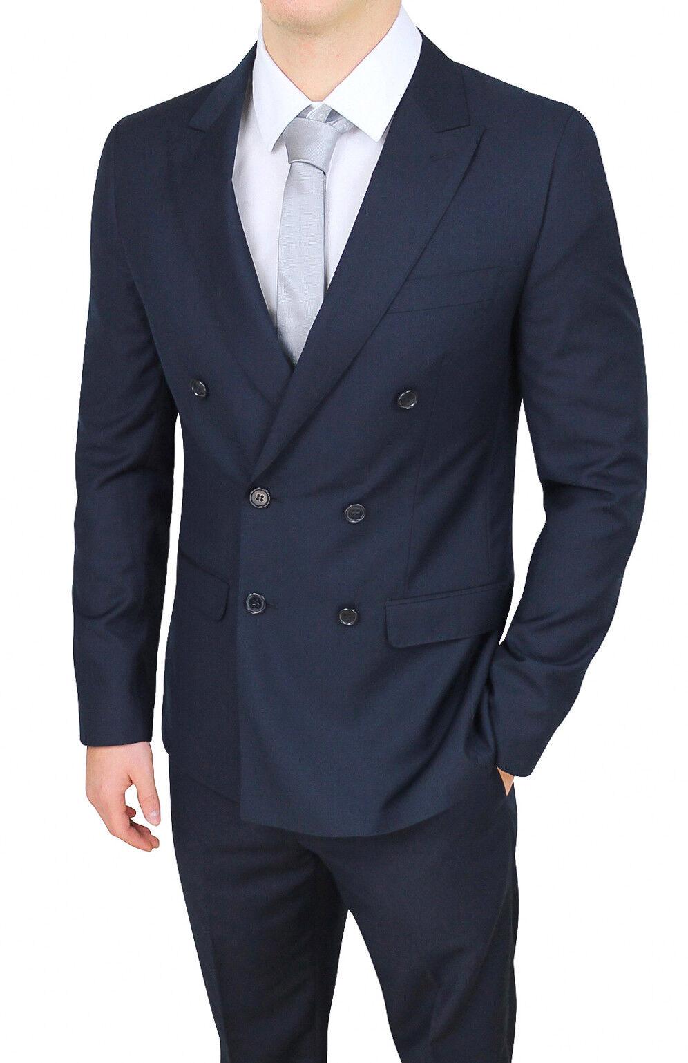 Kleidung mann sartoriale zweireihig dunkelblau élégant formal smoking zeremonie   | Abgabepreis  | Sorgfältig ausgewählte Materialien  | Ausgezeichnet
