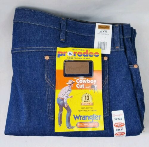 Wrangler Men/'s Jeans 13MWZXS Pro Rodeo Cowboy Cut 52X32 NWT Heavyweight Denim