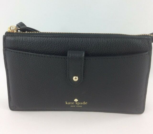 d1464652d288 Kate Spade Larchmont Avenue Alegra Black Leather Crossbody Bag ...