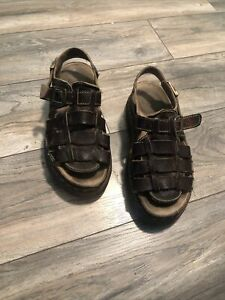 Doc-Martens-Brown-Leather-Sandals-Men-s-12-Nice