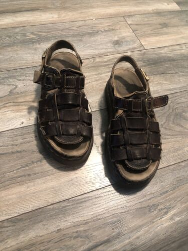 Doc Martens Brown Leather Sandals Men's 12 Nice - image 1