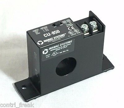 3 MAMAC SYSTEMS CU-850 Current Sensor 0-5 VDC Output Solid-Core 10//20//50 Amps