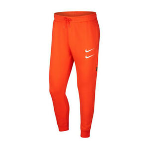 Nike-Swoosh-Pant-Pantalone-Uomo-CJ4869-891-Team-Orange-White