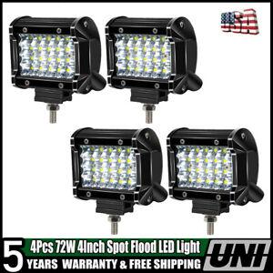 4X72W-4INCH-Spot-Pods-LED-Work-light-Jeep-4WD-ATV-Boat-Driving-Fog-Lamp-Car-SUV